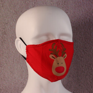 Face Mask Filter Xmas Rudolph