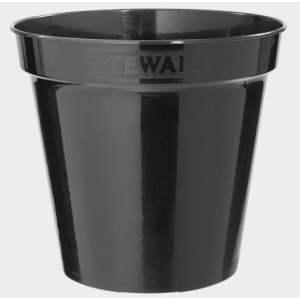 Flower Pot Black 8″