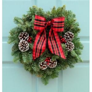 New Age Tartan Wreath 8″