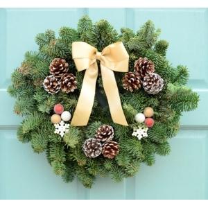 Sumptuous Snowflake Wreath 10″