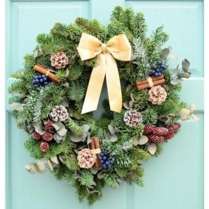 Sumptuous Garden Wreath 12″