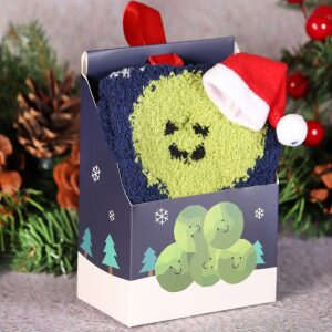 Fluffy Christmas Socks In A Box Sprout