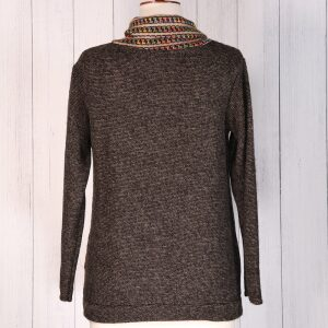 Mock Space Dye Cardi Coconut Button Taupe