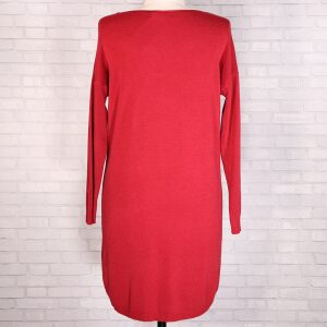 Knitted Star Tunic Red