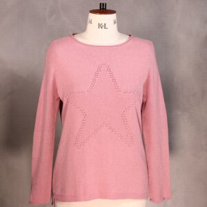 Cosy Star Jumper Dusty Pink