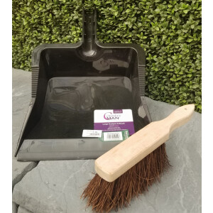 Large Dustpan + Bassine Handbrush Black