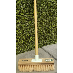 12″ Soft Pvc Fill Broom And Handle Cream