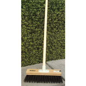 12″ Stiff Pvc Fill Broom And Handle Black