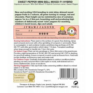 Pepper Sweet Mini Bell Mixed F1 Hybrid