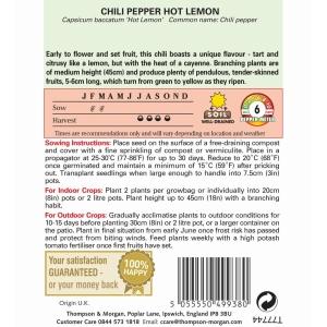 Pepper Chilli Hot Lemon