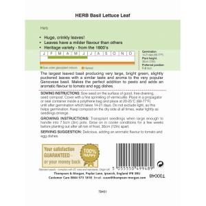 Herb Basil Lettuce Leaf