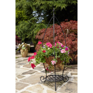 Charleston Plant with Hanging Basket Stand