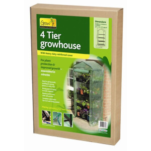 Four Tier Compact Growhouse and PVC Cover