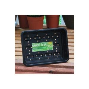 Premium Seed Tray Holes Black 23cm