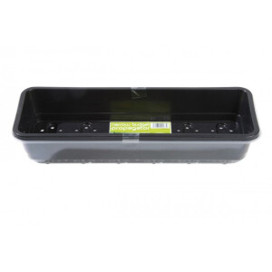 Premium Window Sill Narrow Seed Tray Black