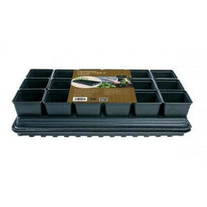 Pro Vegetable Tray Set 18 Square Pots 9cm
