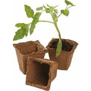 Square Fibre Pots Extra Value Pack 48 pack 8cm