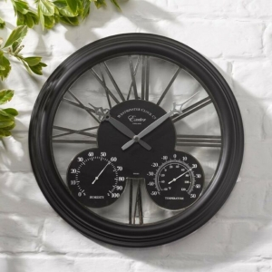 Exeter Clock Black