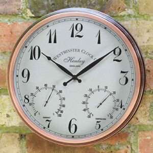 Henley Clock with Thermometer