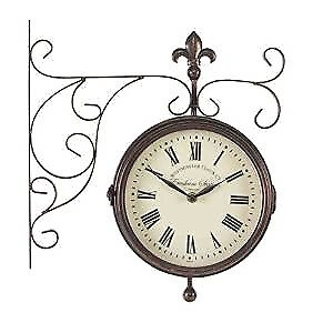 Marylebone Double Sided Clock with Thermometer