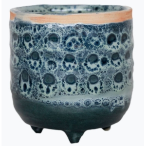 Mini Reactive Glaze Planter Sapphire 6cm
