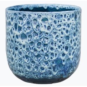 Reactive Glaze Planter Sapphire