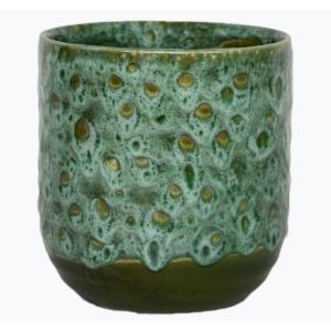 Reactive Glaze Planter Emerald