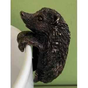 Antique Bronze Hedgehog Pot Buddy