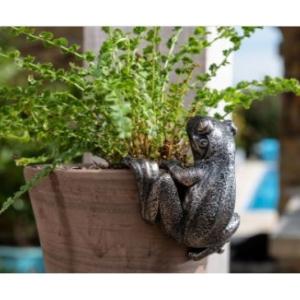 Antique Bronze Frog Pot Buddy