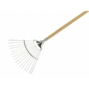 Kent and Stowe Stainless Steel Long Handled Lawn + Leaf Rake